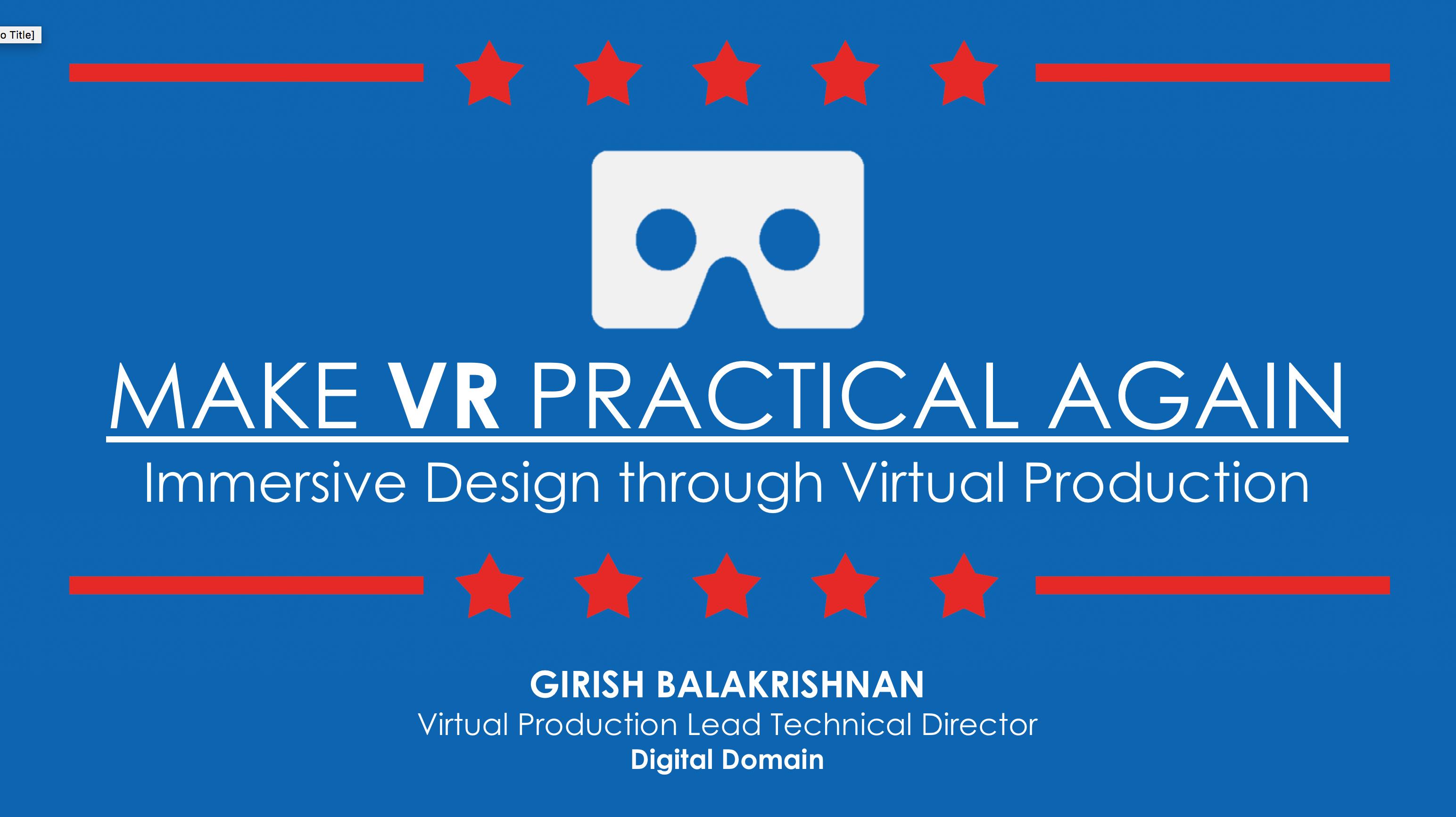 Make VR Practical Again